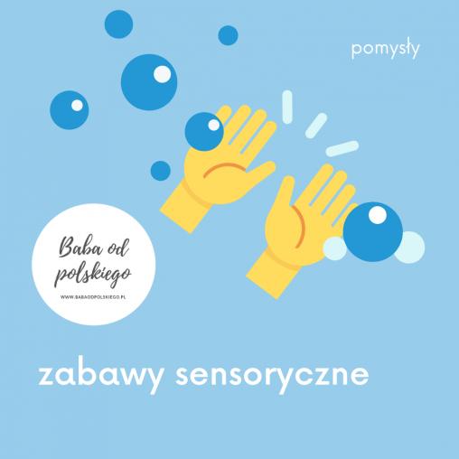 zabawy sensoryczne, baba od polskiego, pomysły, pomysł, sensoryka,