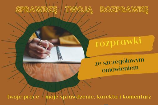 sprawdzę twoją rozprawkę - usługa - baba od polskiego